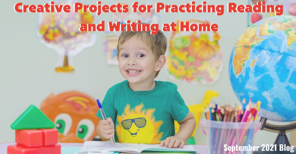 child practice reading writing